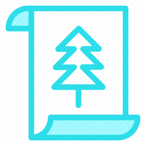 Card, paper, document, letter, christmas icon