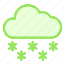 cloud, cold, snow, weather, winter icon