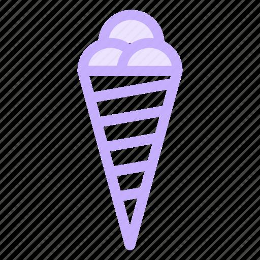 cone, food, icecream, sweet, symbology icon