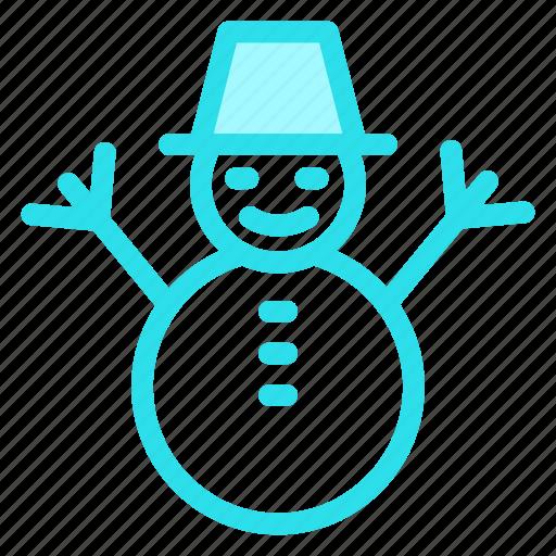 childhood, man, snow, snowman, winter icon
