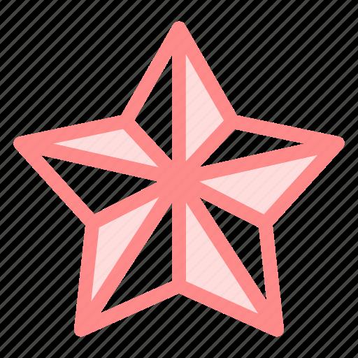 christmas, decoration, ornament, star, universe icon
