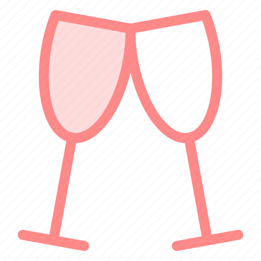 Alcohol, glasses, party, toast, wine icon - Download on Iconfinder