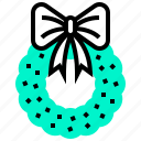 christmas, element, merry, wreath, xmas icon