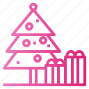 christmas, festival, gift, tree icon