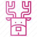 animal, deer, mammal, reindeer icon