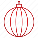 ball, christmas, globe, holiday, winter icon