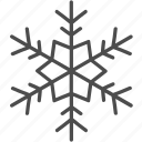 christmas, flake, holiday, snow icon