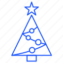 christmas, decoration, star, tree, xmas icon