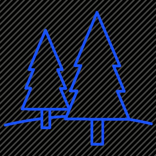christmas, decoration, mountain, tree, xmas icon