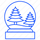 ball, christmas, decorations, snowflake, tree, winter icon