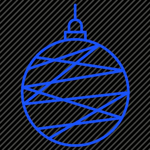 ball, christmas, decorations, snowflake, winter icon