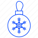 ball, christmas, decorations, snowflake, winter icon