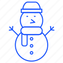 christmas, decoration, man, snow, snowman, winter icon