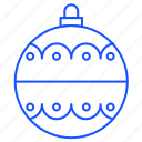 ball, bauble, christmas, gift, sphere, toy icon