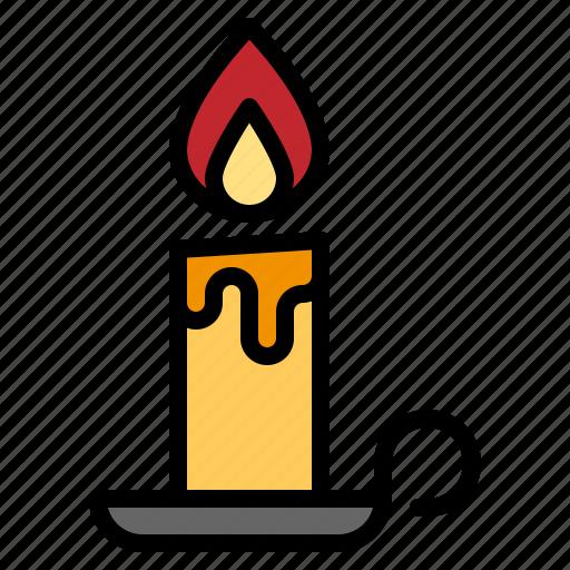candle, christmas, decoration, illumination, light icon