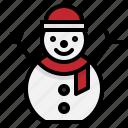 christmas, cold, snow, snowman, winter icon