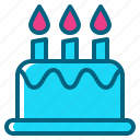 birthday, cake, candle, dessert, party icon