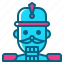 christmas, decoration, nutcracker, soldier, toy icon