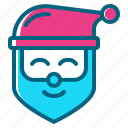 christmas, claus, gift, santa, winter icon