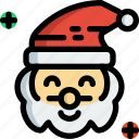 christmas, claus, hat, santa, happy