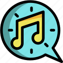 christmas, music, note, sing, song icon