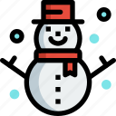 christmas, decoration, ornament, snow, snowman, winter icon