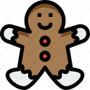 christmas, decoration, dessert, food, gingerbread, ornaments icon