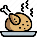 chicken, christmas, food, roasted, turkey icon