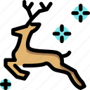 christmas, deer, reindeer, santa icon