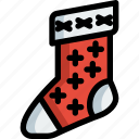 christmas, decoration, ornaments, sock icon