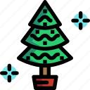 christmas, decoration, ornaments, tree icon