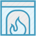 chimney, christmas, fire, fireplace, heater icon