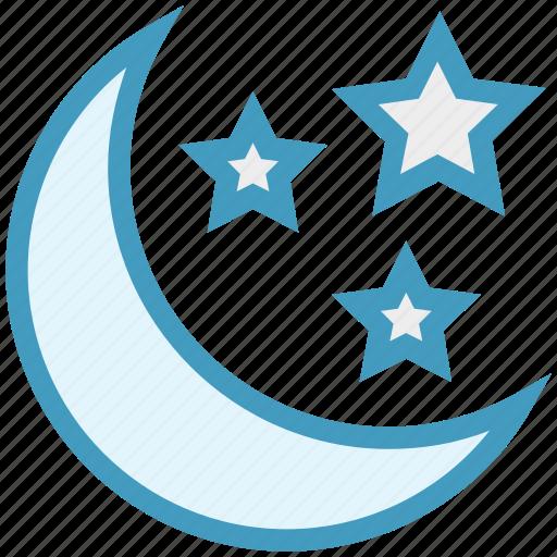 christmas, decoration, moon, night party, stars icon