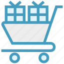 cart, christmas, gifts, gifts boxes, present icon