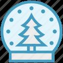 ball, christmas, crystal, decoration, magic