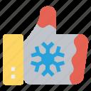 christmas, christmas glove, hand, hand glove, snowflake icon