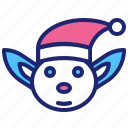 christmas, elf, merry, winter, xmas