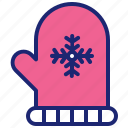 christmas, merry, mitten, winter, xmas