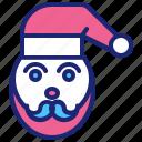 christmas, claus, merry, santa, winter, xmas