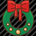 christmas, holiday, wreath icon