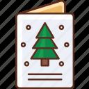 christmas, holiday, postcard