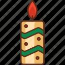 candle, celebration, holiday icon