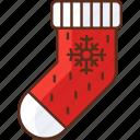 sock, stocking, winter