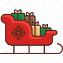gifts, presents, santa claus icon
