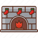 comfort, fire, fireplace icon