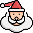 christmas, claus, decoration, santa, snow, winter, xmas icon