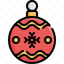 ball, christmas, decoration, holiday, snow, winter, xmas icon