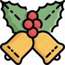 bell, berry, celebration, christmas, decoration, winter, xmas icon
