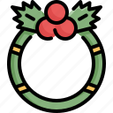 celebration, christmas, decoration, snow, winter, wreath, xmas icon
