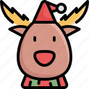 christmas, deer, holiday, reindeer, vacation, winter, xmas icon